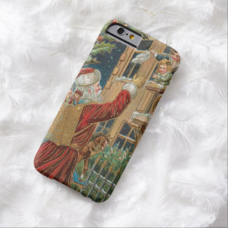 Vintage Santa Bringing Presents Barely There iPhone 6 Case