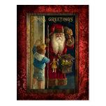 Vintage Santa Bringing Toys Postcard