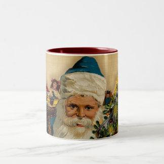 Vintage Santa buenas fiestas: Taza de café