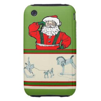 Vintage Santa Carcasa Resistente Para iPhone