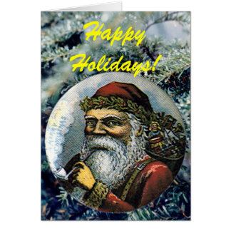 Vintage Santa - Card