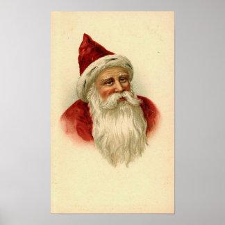 Vintage Santa Card Print