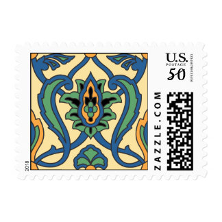 Vintage Santa Catalina Island Tile Postage Stamp