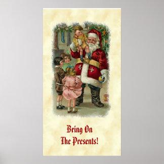 Vintage Santa Children Gifts CH405 Print