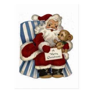 Vintage Santa  Christianity Holidays Christmas Postcard