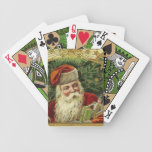 Vintage Santa Christmas Bicycle Paying Cards Green Bicycle Playing Cards