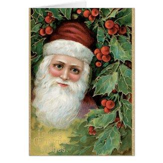 vintage santa christmas cards