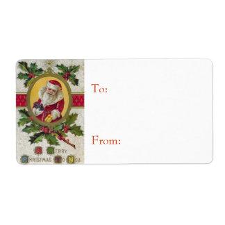 Vintage Santa Christmas Gift Labels
