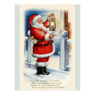 Vintage Santa Christmas Greetings Postcard copy