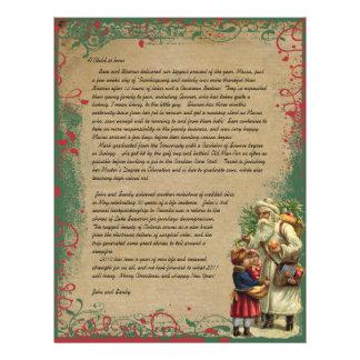 Vintage Santa Christmas Letter Photo on back Flyer