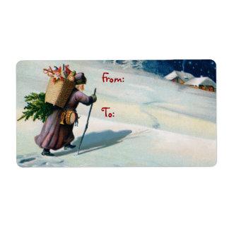 Vintage Santa Christmas Mailing Labels
