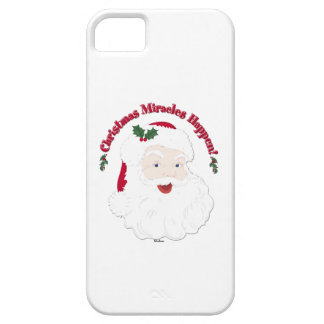 Vintage Santa Christmas Miracles Happen! iPhone SE/5/5s Case