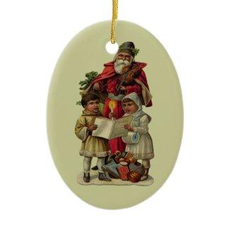 Vintage Santa Christmas Music Christmas Ornaments