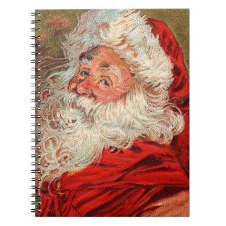 Vintage Santa Christmas Notebook