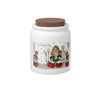 vintage-santa-christmas-post-cards-0029 candy dish