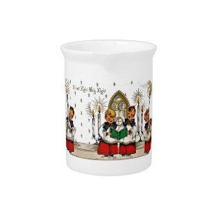 Vintage-santa-christmas-post-cards-0029 Drink Pitcher at Zazzle