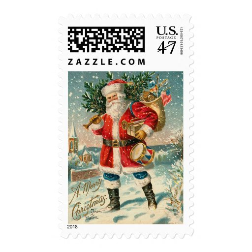 Vintage Santa Christmas Postage