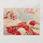 """Vintage Santa Christmas Postcards<br><div class=""""desc"""">Vintage Christmas postcards brought back to life with careful restoration. Vibrant colors and beautiful printing. Postcards are an easy way to say Merry Christmas! Don't forget we have postcard postage too!</div>"""