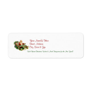 Vintage Santa Christmas Return Address Labels 5