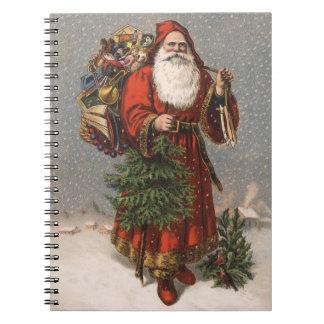 Vintage Santa Christmas Spiral Notebooks
