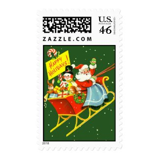 Vintage Santa Christmas Stamp stamp