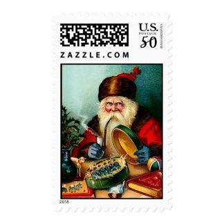 Vintage Santa Christmas Stamps