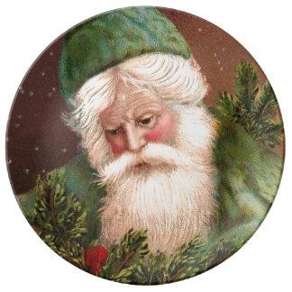Vintage Santa Claus 10 Dinner Plate