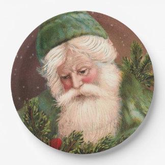 Vintage Santa Claus 10 Paper Plate