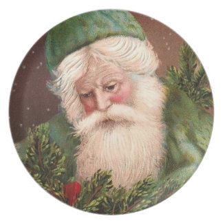 Vintage Santa Claus 10 Plate