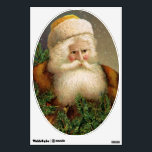"""Vintage Santa Claus 11 Wall Decal<br><div class=""""desc"""">A beautiful vintage wall decal featuring Santa Claus with evergreens.</div>"""