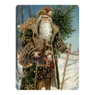 Vintage Santa Claus 3 Card