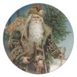 Vintage Santa Claus 3 Plates