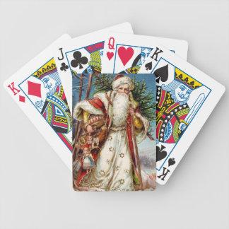 Vintage Santa Claus 5 Bicycle Playing Cards