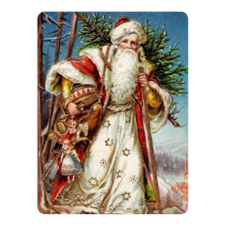 Vintage Santa Claus 5 Card