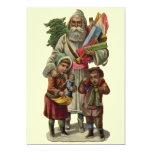 "Vintage Santa Claus 5"" X 7"" Invitation Card"