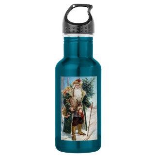 Vintage Santa Claus 6 18oz Water Bottle