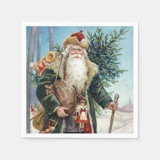 Vintage Santa Claus 6 Napkin