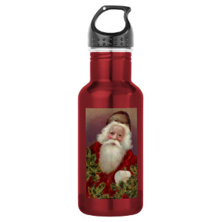 Vintage Santa Claus 7 18oz Water Bottle