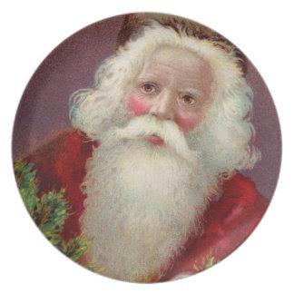 Vintage Santa Claus 7 Melamine Plate