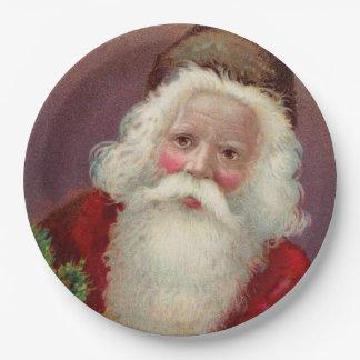 Vintage Santa Claus 7 Paper Plate
