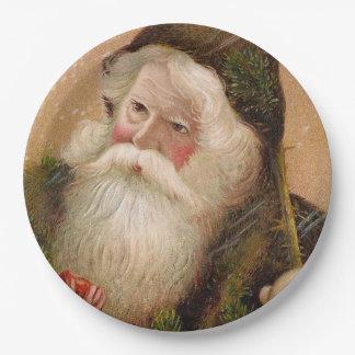 Vintage Santa Claus 8 Paper Plate