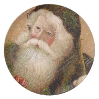 Vintage Santa Claus 8 Plate