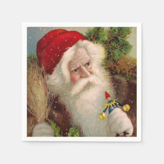 Vintage Santa Claus 9 Paper Napkin