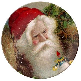 Vintage Santa Claus 9 Plate