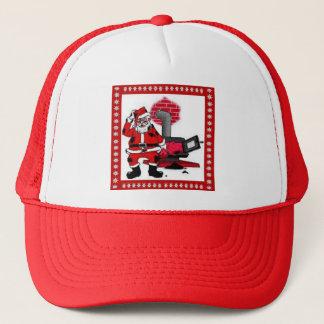Vintage Santa Claus and a Coal Stove Burner Trucker Hat
