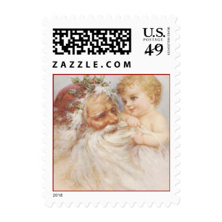 Vintage Santa Claus and Baby Postage