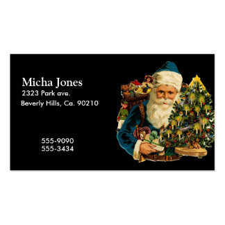 Vintage Santa Claus Bearing Gifts For Everyone Business Card