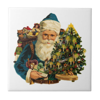 Vintage Santa Claus Bearing Gifts For Everyone Ceramic Tiles