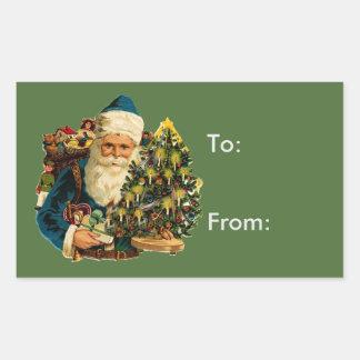 Vintage Santa Claus Bearing Gifts Gift Tag
