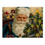 Vintage Santa Claus buenas fiestas: Postales